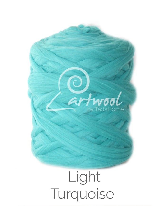 light turquoise Merino Wool Chunky Yarn