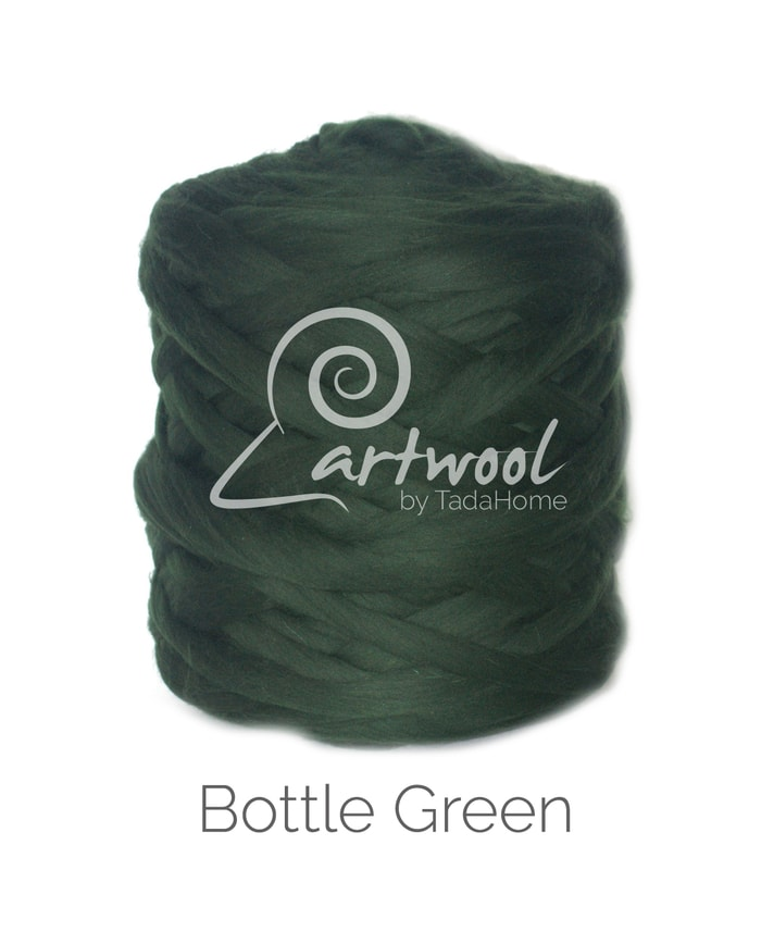 Bottle Green Merino Wool Chunky Yarn