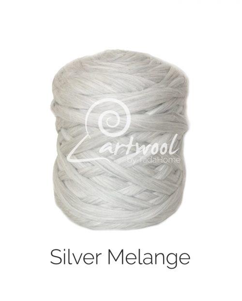 Silver Grey Melange Merino Wool Blanket