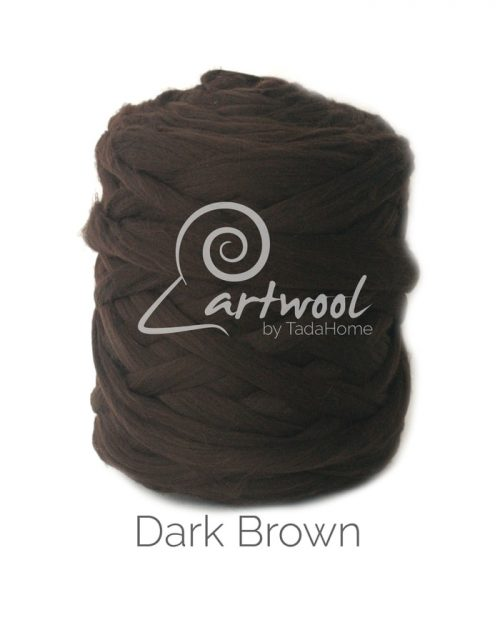 Dark Brown - 1 kg 100% Merino Wool Giant Chunky Yarn Arm Knitting