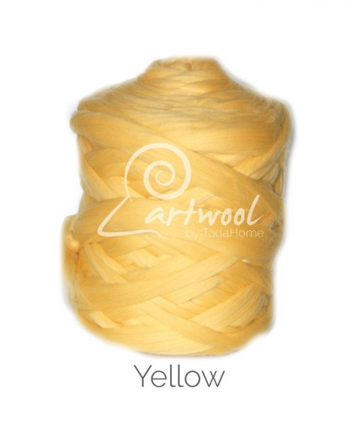 Yellow - 1 kg 100% Merino Wool Giant Chunky Yarn Arm Knitting