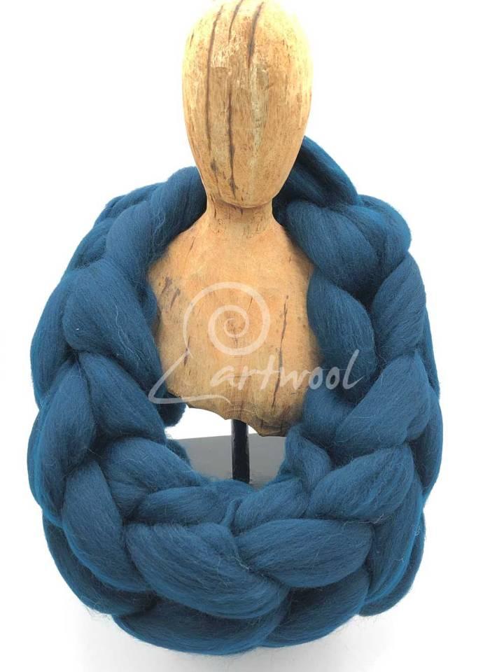 Ocean Green Melange Merino Wool Chunky Infinity Scarf