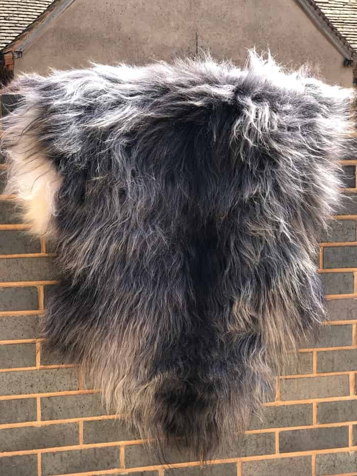 Natural Grey Icelandic Sheepskin - Soft, fluffy in Grey colour