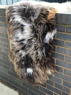 Natural Brown Sheepskin - Soft, fluffy, in natural colour, odourless