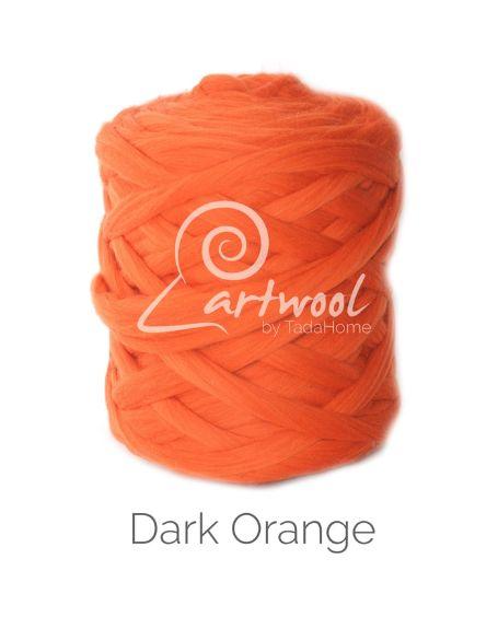 Dark Orange Chunky Merino Wool Yarn