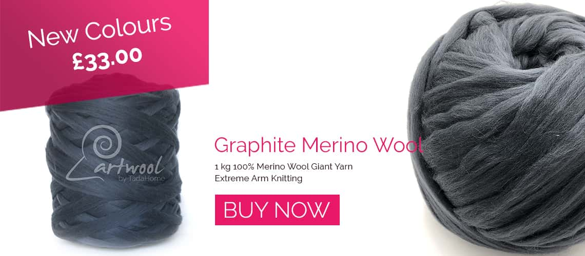 Graphite Chunky Merino Wool Yarns