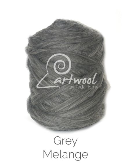 Grey Melange 100% Merino Yarn Wool Giant Chunky Extreme Big Arm Knitting 1 kg