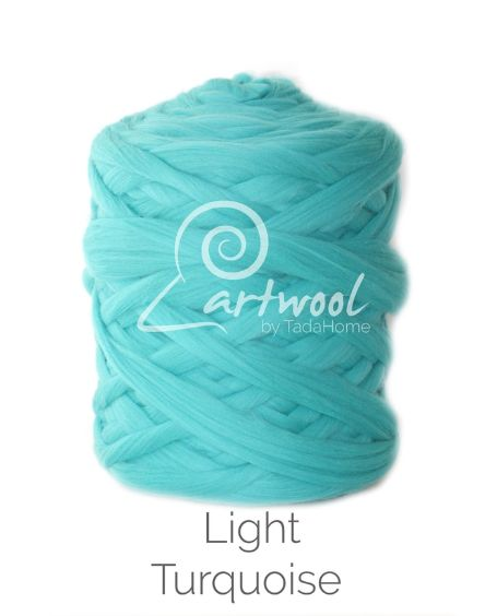 Light Turquoise 100% Merino Yarn Wool Giant Chunky Extreme Big Arm Knitting 1 kg