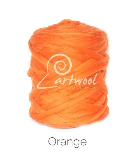 Orange 100% Merino Yarn Wool Giant Chunky Extreme Big Arm Knitting 1 kg