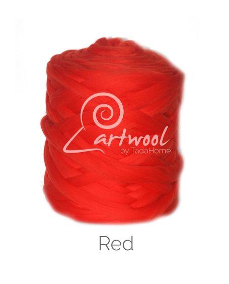 Red 100% Merino Yarn Wool Giant Chunky Extreme Big Arm Knitting 1 kg