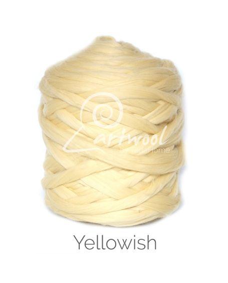 Yellowish 100% Merino Yarn Wool Giant Chunky Extreme Big Arm Knitting 1 kg