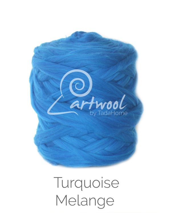 Sapphire Turquoise Melange Chunky Merino Wool Yarn