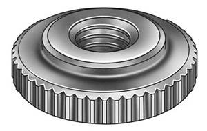 "1/4"" - 20 Camera Bolt, Nut, Whatever it's called  Check Nut, Knurled, 1/4-20, Steel"
