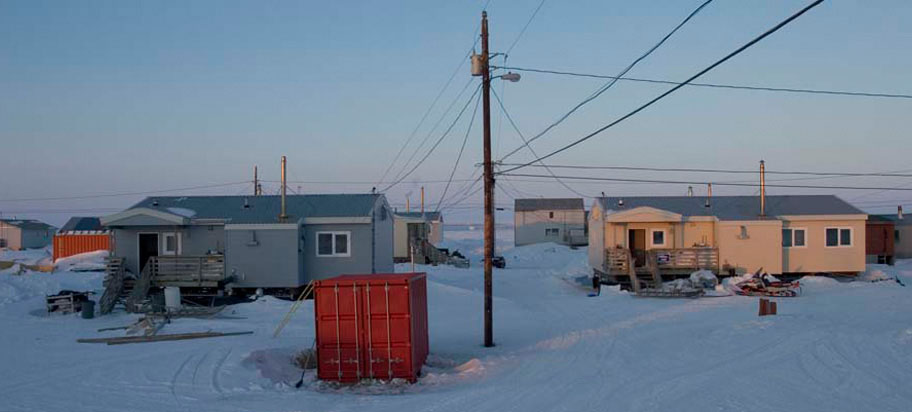 photograph of Alaskan village that will be affected by climate change