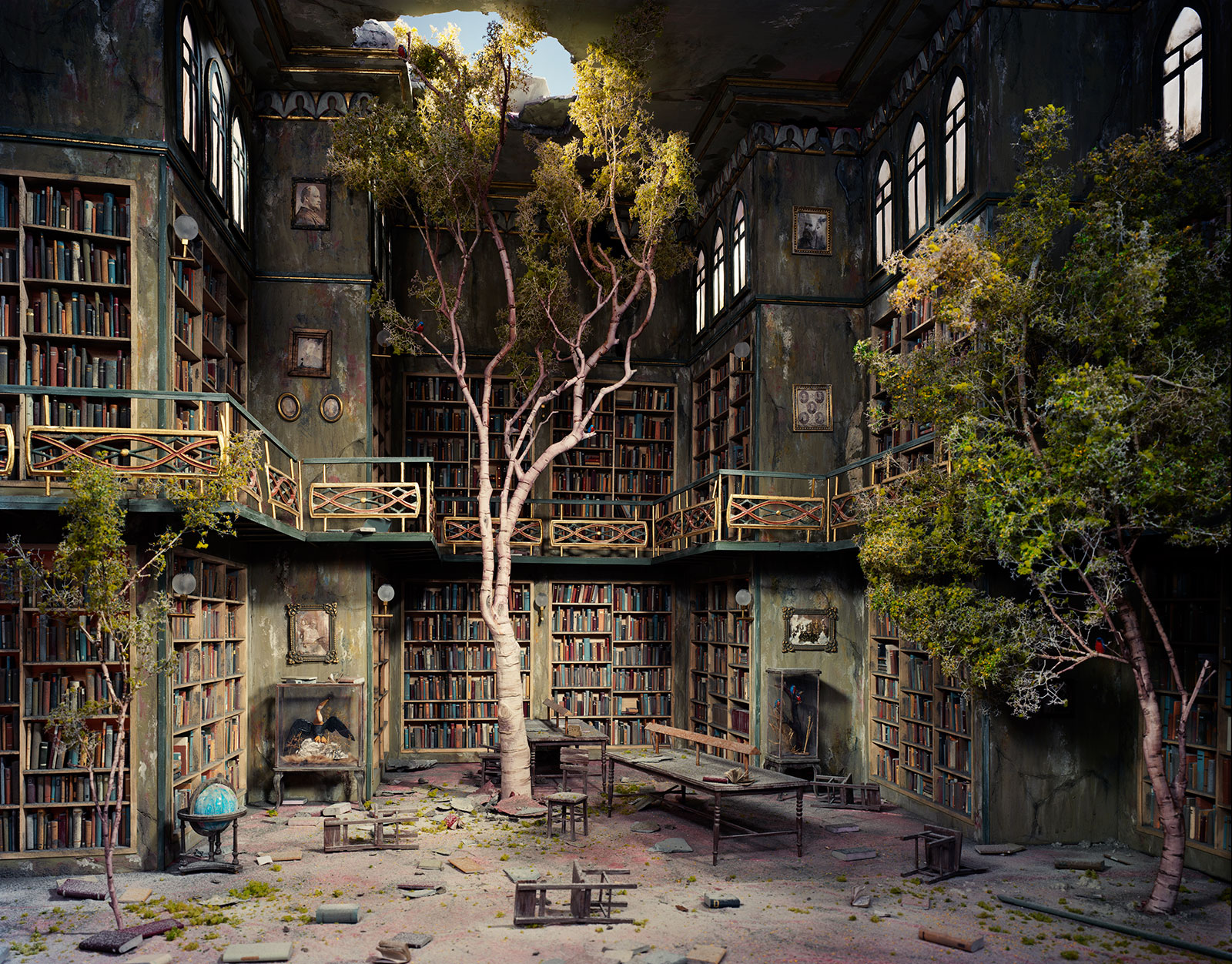 abandoned library