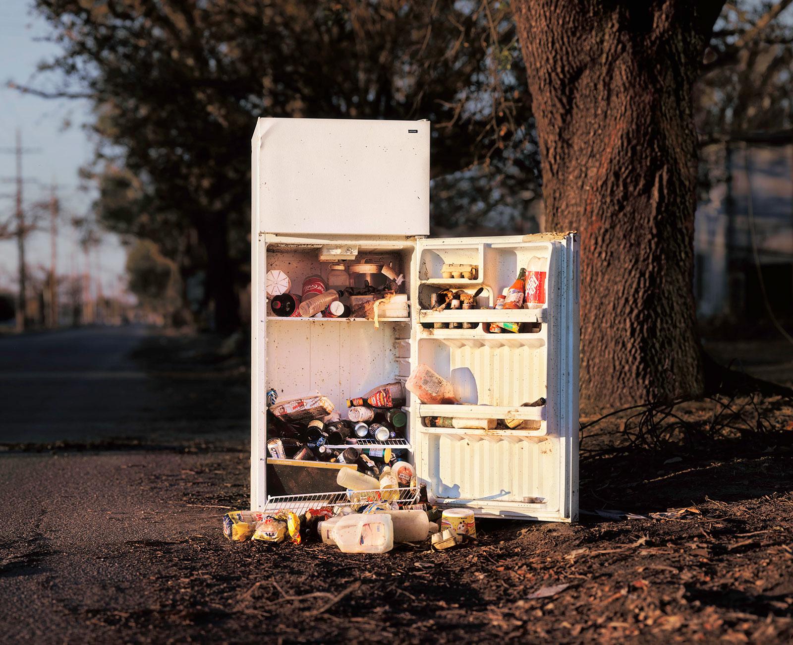 open refrigerator following hurricane