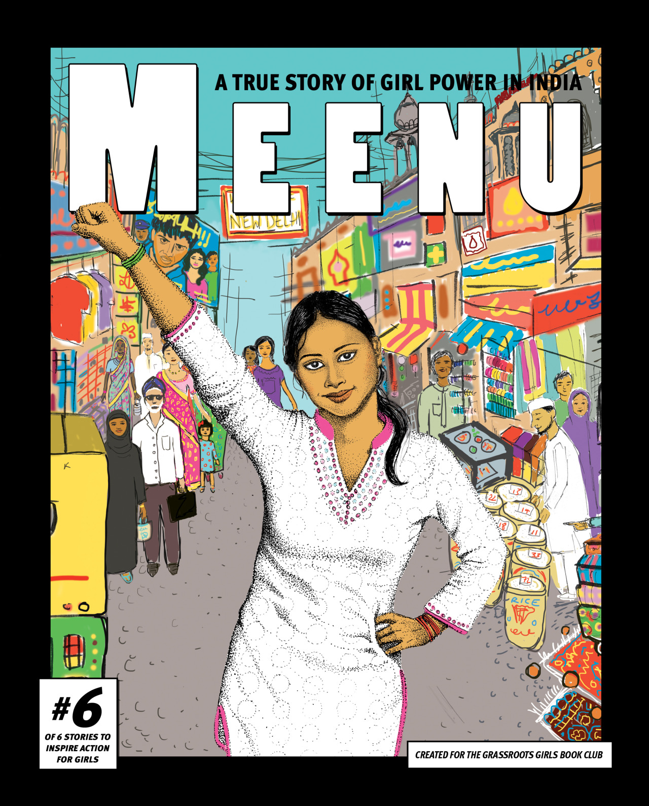 graphic novel cover with girl from India