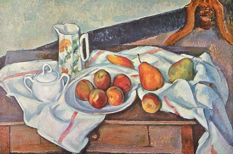 Paul cézanne, Natura morta con zuccheriera, 1888