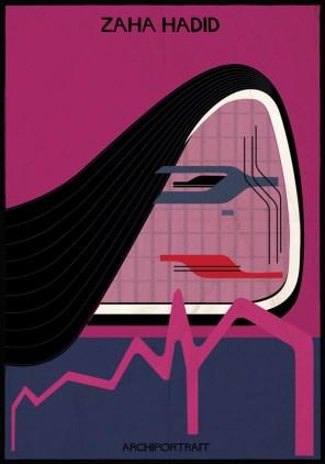 Federico Babina - Archi Portrait - Zaha Hadid