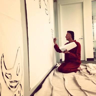 Jones paints the office of the MRC (Los Angeles)