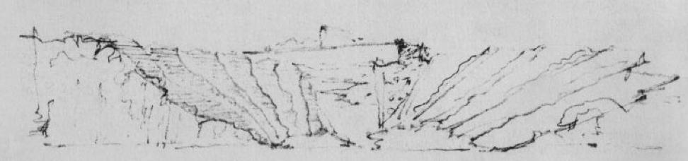 Alvar Aalto - Cimitero Lyngby Sketch