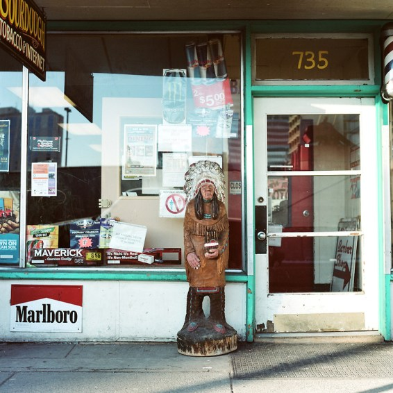 ANCHORAGE, ALASKA - 2014: Seen on 4th Ave.