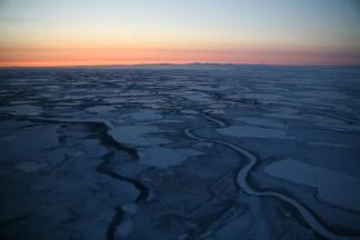 Flight from Kotzebue to Noorvik, Alaska. 2009