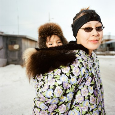 Lucy Swan and Jennifer. KIVALINA, Alaska 2007