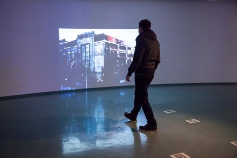 The place become space - Interactive video installation (2011) Ph. Matej Vidmar