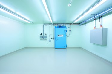 Zwilag I Security gate to the storage for low radiation and medium-radiation waste 2008