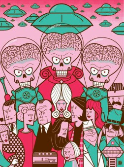Ale Giorgini - Tim Burton - Mars attacks