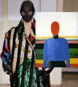 Kazimir Malevich, Female Torso, 1933 and Maison Martin Margiela Artisanal S:S 2014