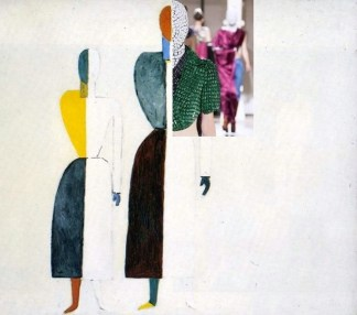Kazimir Malevich, Two Figures and Maison Martin Margiela Artisanal A:W 2013