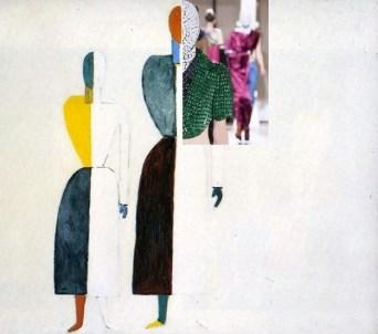 Kazimir Malevich, Two Figures and Maison Martin Margiela Artisanal A:W 2013
