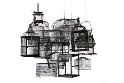 Andrea Bianconi - Traps for Clouds, 2011, installazione