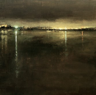 Distant Lights from the Bay - Jeremy Mann
