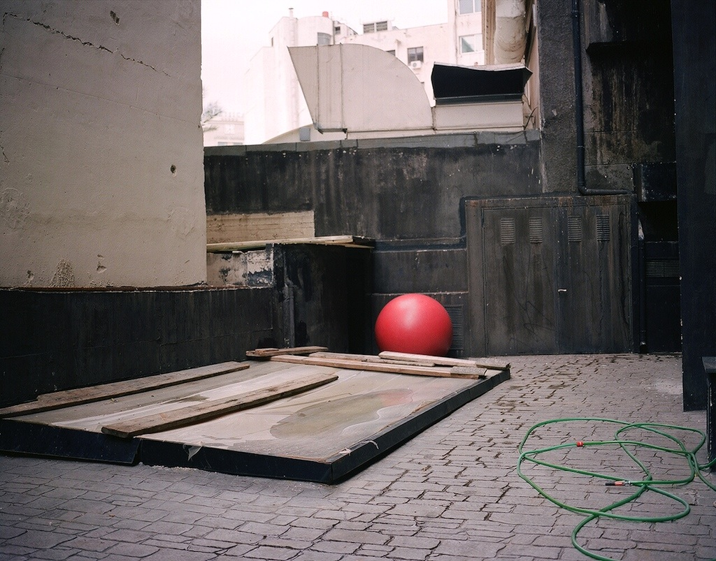 Red sphere - Athens I hear you ©Georges Salameh