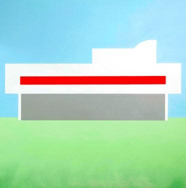 Parallele (acrilico e spay su tela, 100X100, 2014)