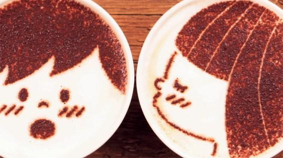 Il video in stop-motion realizzato con 1000 tazze di caffè latte