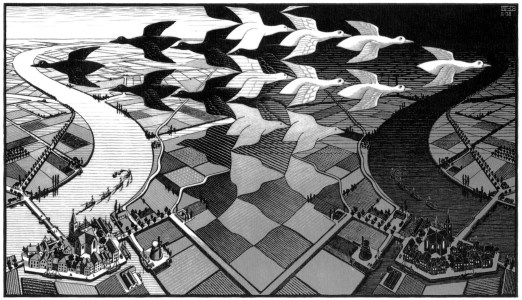 Maurits Cornelis Escher Giorno e notte / Day and Night, 1938