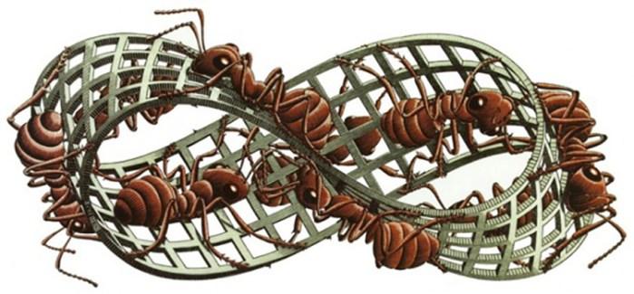 Maurits Cornelis Escher Nastro di Möbius II / Möbius Strip II, 1963