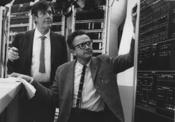 HPSCHD Lejaren Hiller and John Cage working for hpschd