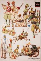Paolo Caccia Dominioni - Ascari K 7 1935-1936 Campagna d'Etiopia litografia