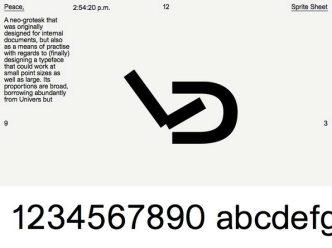 Il font che ti dice l'ora - Peace by Kia Tasbihgou