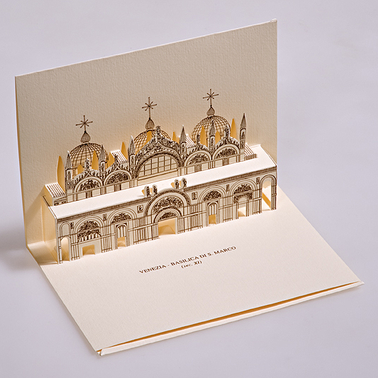 Card 3D Pop-up Kirigami | San Marco - Venezia