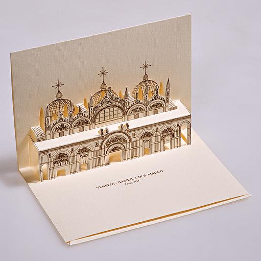 Card 3D Pop-up Kirigami | San Marco - Venezia