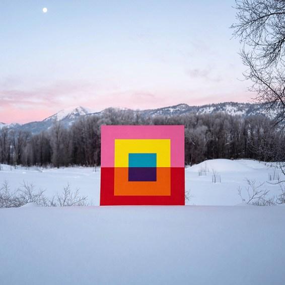 Rebound, 2015, acrilico su tela © - Andrew Faris
