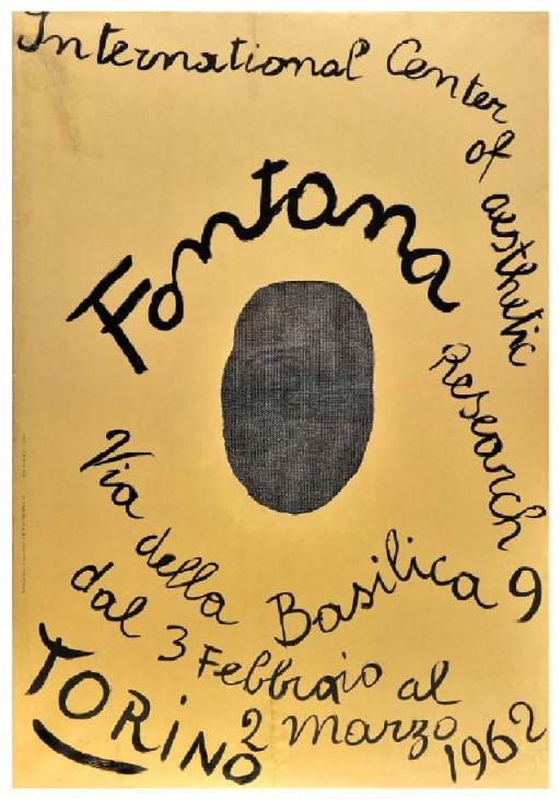 Manifesto Mostra di Fontana, Icar, Torino, 1962
