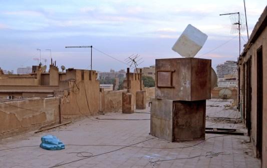 Malak Helmy. Chapter 4: salt cube and blob, 2013 veduta dell'installazione
