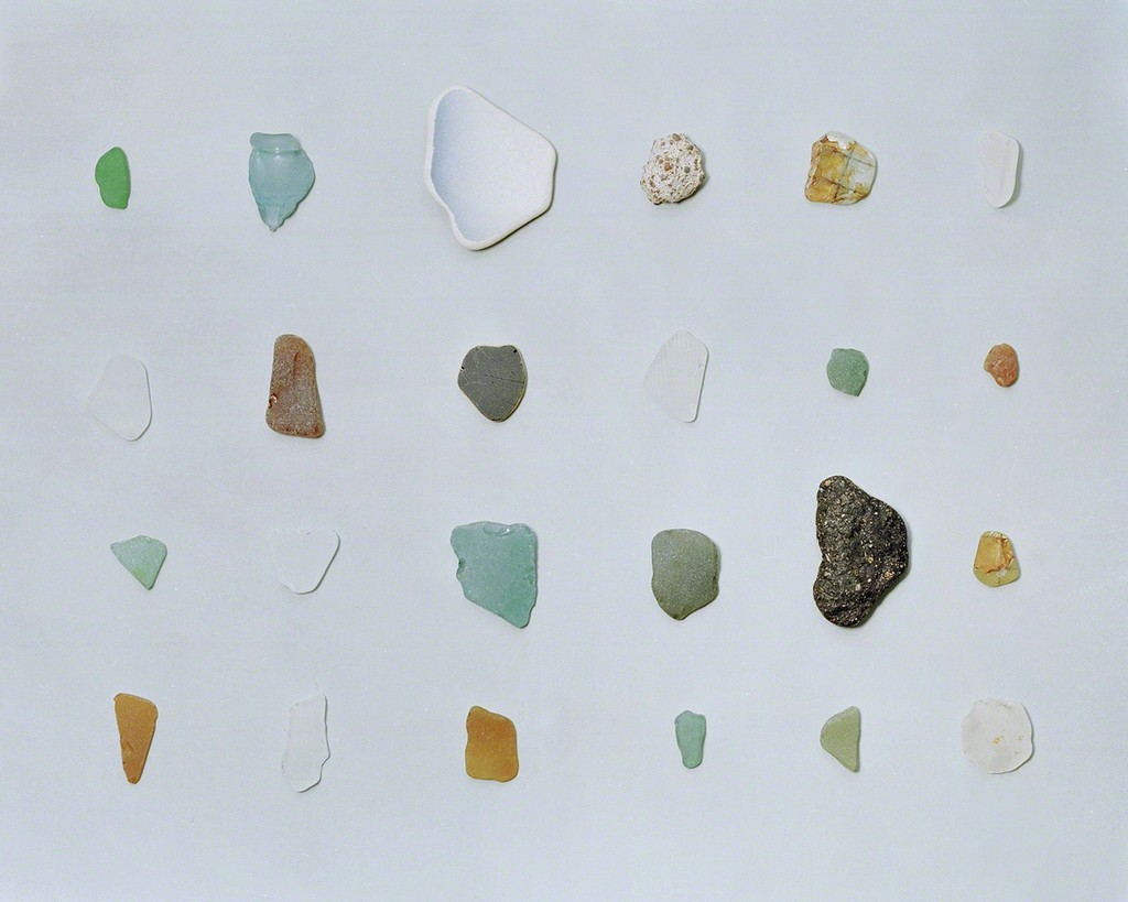 """""""New rocks"""" made of glass bottle, tiles and asphalt found on a shore. An anthropogenic marker horizon in the future rock record., 2015 From the series An investigation of the laws observable in the composition, dissolution, and restoration of land © Fabio Barile"""